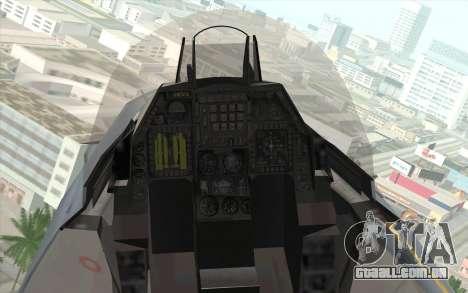 F-16 Osean Air Defense Force para GTA San Andreas vista traseira