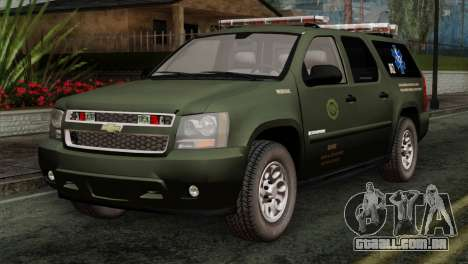 Chevrolet Suburban National Guard MedEvac para GTA San Andreas