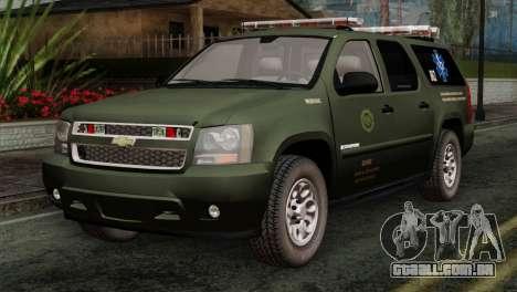 Chevrolet Suburban National Guard MedEvac para GTA San Andreas