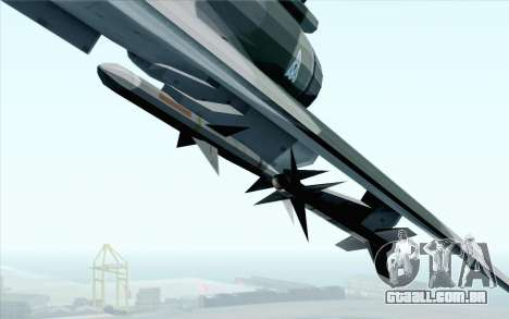 Dassault Mirage 2000 ISAF para GTA San Andreas vista traseira