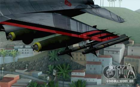 F-16 15th Fighter Squadron Windhover para GTA San Andreas vista direita