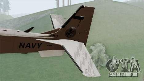 Embraer A-29B Super Tucano Navy White para GTA San Andreas traseira esquerda vista