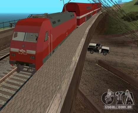Israeli Train para GTA San Andreas traseira esquerda vista