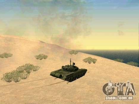Tanque T-72B para GTA San Andreas vista interior