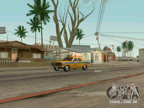 Volga 24-10 GAI para GTA San Andreas traseira esquerda vista
