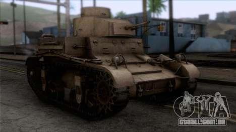 M2 Light Tank para GTA San Andreas