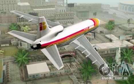 Lookheed L-1011 Iberia para GTA San Andreas esquerda vista