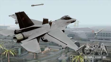 F-16C Block 52 PJ para GTA San Andreas esquerda vista
