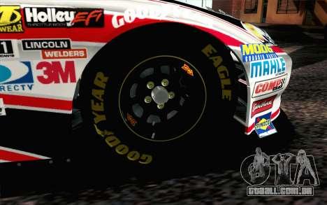 NASCAR Chevrolet Impala 2012 Plate Track para GTA San Andreas traseira esquerda vista