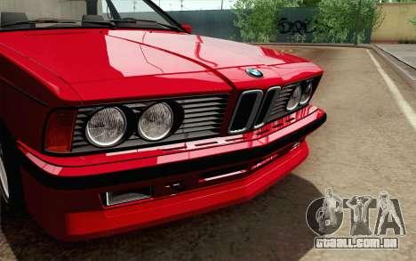 BMW M635CSI E24 1986 V1.0 para GTA San Andreas vista direita