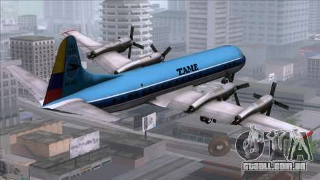 L-188 Electra TAME para GTA San Andreas esquerda vista