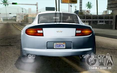 GTA 5 Dewbauchee Exemplar IVF para GTA San Andreas vista traseira