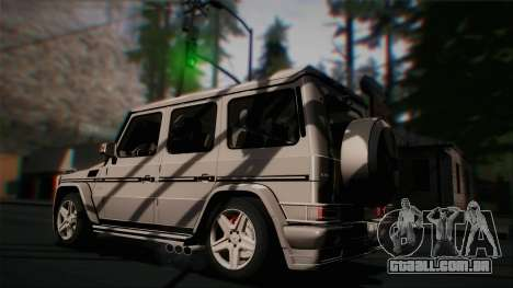 Mercedes-Benz G65 2013 Hamann Body para vista lateral GTA San Andreas