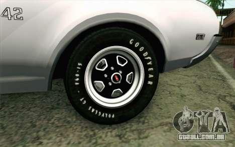 Oldsmobile 442 Férias Coupé 1969 FIV АПП para GTA San Andreas traseira esquerda vista