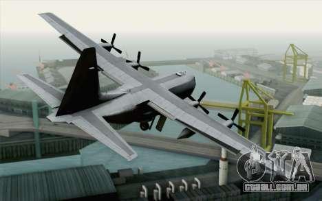 C-130H Hercules USAF para GTA San Andreas esquerda vista