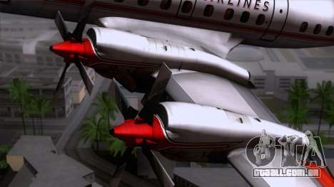 L-188 Electra American Als para GTA San Andreas vista traseira