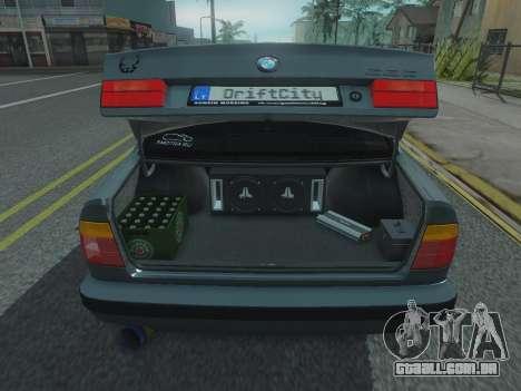 BMW 525 E34 Tune para GTA San Andreas vista traseira