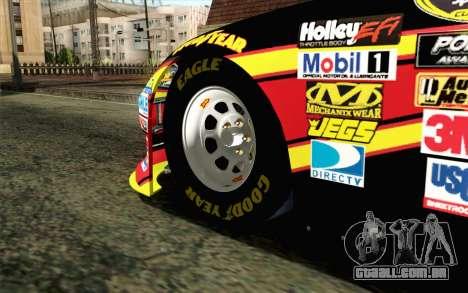 NASCAR Toyota Camry 2012 Short Track para GTA San Andreas traseira esquerda vista
