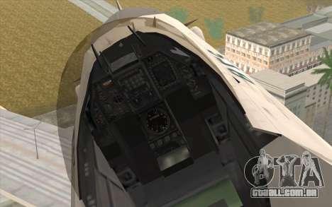 Mitsubishi F-2 Blue JASDF Skin para GTA San Andreas vista direita