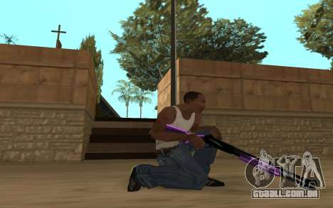 Purple Weapon Pack by Cr1meful para GTA San Andreas quinto tela