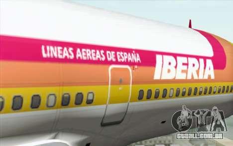 Lookheed L-1011 Iberia para GTA San Andreas vista traseira