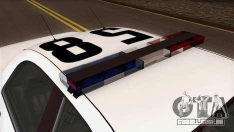 GTA 5 Vapid Stanier Sheriff SA Style para GTA San Andreas vista traseira