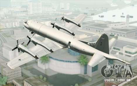 Lockheed P-3 Orion German Navy para GTA San Andreas esquerda vista