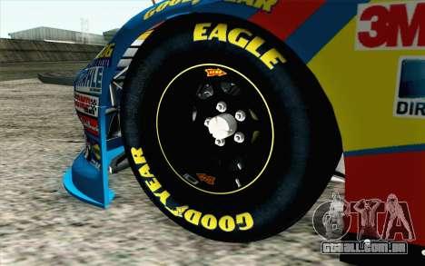 NASCAR Ford Fusion 2012 Short Track para GTA San Andreas traseira esquerda vista