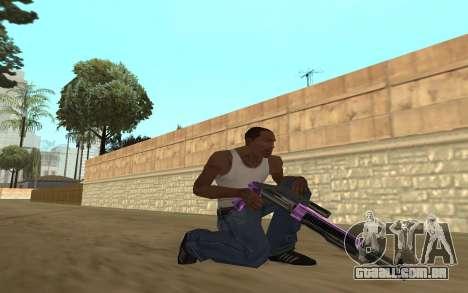 Purple Weapon Pack by Cr1meful para GTA San Andreas por diante tela