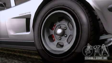GTA 5 Invetero Coquette Classic TL para GTA San Andreas traseira esquerda vista