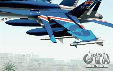 F-18D RAAF 20th Anniversary para GTA San Andreas vista direita