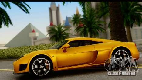 Noble M600 2010 HQLM para GTA San Andreas vista traseira