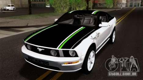 Ford Mustang GT Wheels 2 para GTA San Andreas vista interior