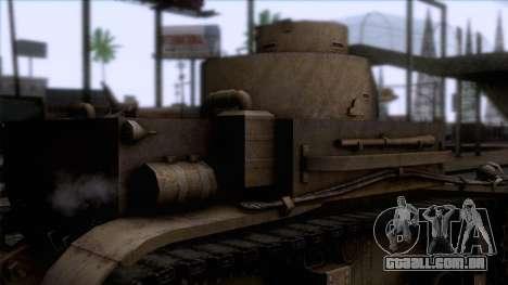 M2 Light Tank para GTA San Andreas vista traseira