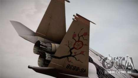 F-22 Raptor Colorful Floral para GTA San Andreas traseira esquerda vista