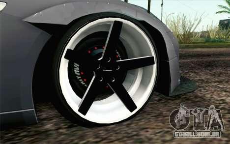 Nissan GT-R 2014 RocketBunny para GTA San Andreas traseira esquerda vista