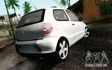 Volkswagen Fox para GTA San Andreas esquerda vista