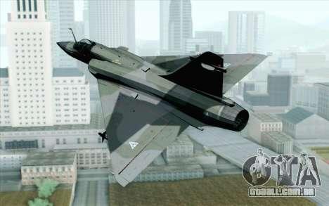 Dassault Mirage 2000 ISAF para GTA San Andreas esquerda vista