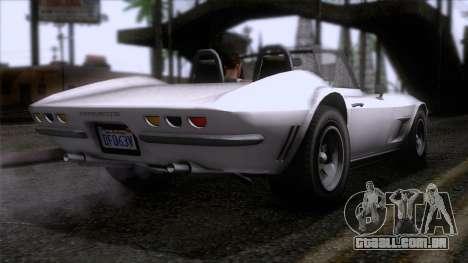 GTA 5 Invetero Coquette Classic TL SA Mobile para GTA San Andreas esquerda vista