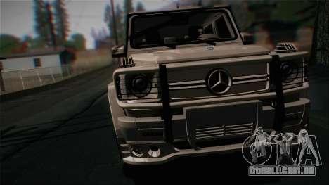 Mercedes-Benz G65 2013 Hamann Body para GTA San Andreas traseira esquerda vista