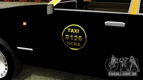 Ford Taunus 1981 Taxi Argentina para GTA San Andreas vista traseira