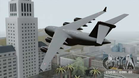 C-17A Globemaster III PAF para GTA San Andreas esquerda vista