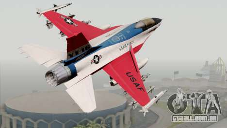 YF-16 Fighting Falcon para GTA San Andreas esquerda vista