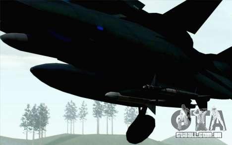 F-14 Raptor Squadron Force para GTA San Andreas vista direita