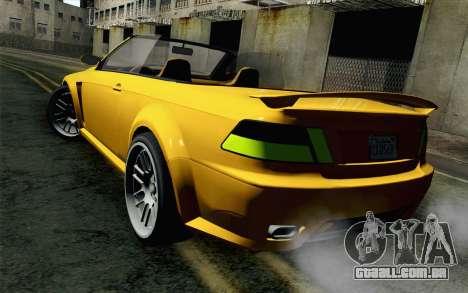 GTA 5 Ubermacht Sentinel Coupe para GTA San Andreas esquerda vista