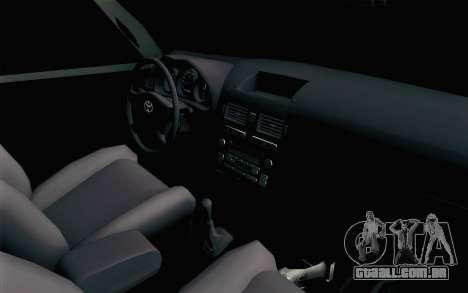 Toyota Fortuner 2014 4x4 Off Road para GTA San Andreas traseira esquerda vista