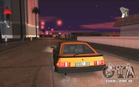 Agradável ColorMod para GTA San Andreas nono tela