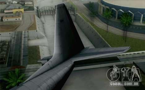 C-130H Hercules USAF para GTA San Andreas traseira esquerda vista