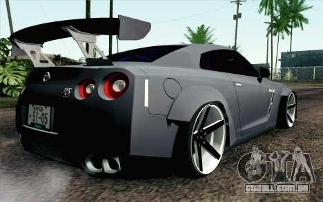 Nissan GT-R 2014 RocketBunny para GTA San Andreas esquerda vista