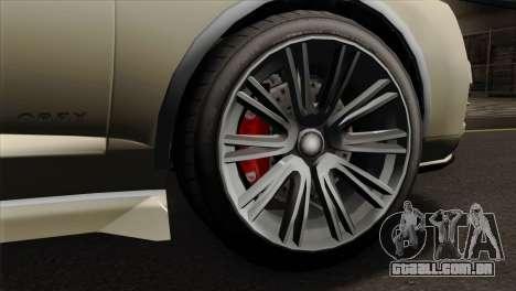 GTA 5 Obey Tailgater SA Mobile para GTA San Andreas traseira esquerda vista